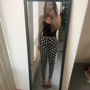 Black & White Polka Dot Pants